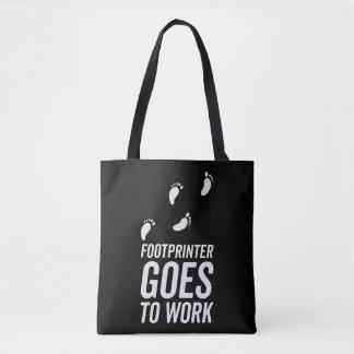 Footprinter goes to work tote bag