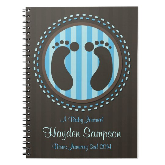 Footprints Baby Journal Notebook - Blue