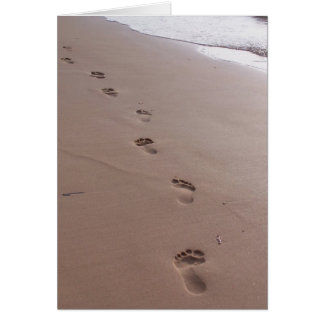 Footprints Blank Greeting Card