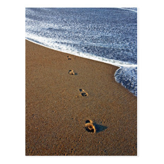 Footprints in Sand Postcard