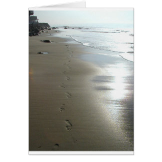 footprints in the sand (card) card