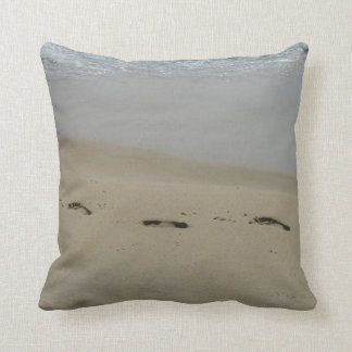 Footprints in the Sand Cushion