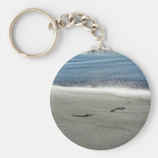 Footprints In The Sand Keychains