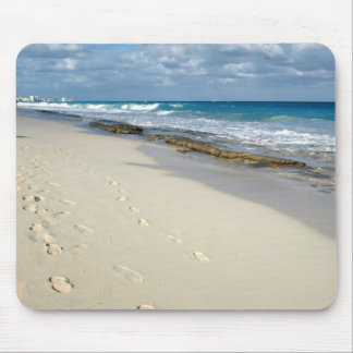 footprints in the sand mousepad