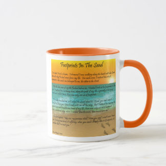 Footprints in the Sand Mug