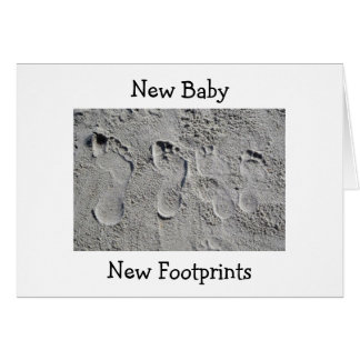 FOOTPRINTS IN THE SAND/NEW BABY CONGRATULATIONS GREETING CARD