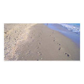 Footprints in the Sand Customized Photo Card
