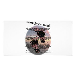 Footprints in the Sand... Photo Greeting Card