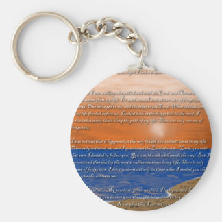 Footprints in the Sand Poem Basic Round Button Key Ring