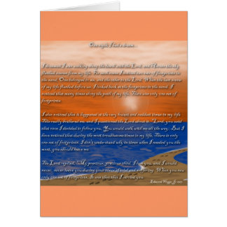 Footprints in the Sand Poem Card