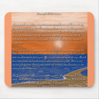 Footprints in the Sand Poem Mouse Pads