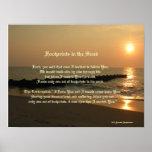 Footprints in the Sand Poem & Print