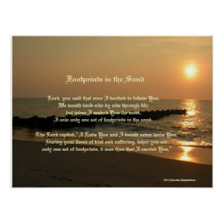 Footprints in the Sand Poem & Print