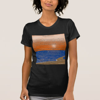 Footprints in the Sand Poem T Shirts