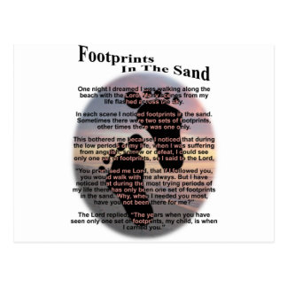Footprints in the Sand Postcards