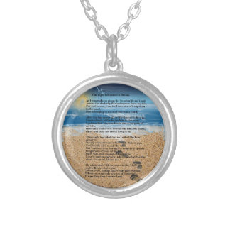 Footprints in the Sand Silver Plated Necklace