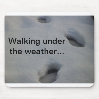 Footprints in the Snow Mouse Mat