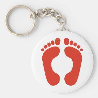 Footprints Key Chains
