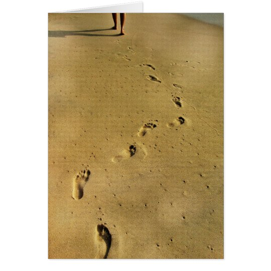 Footprints of Love Card