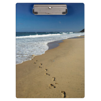 Footprints On Beach, Mabibi, Thongaland Clipboard