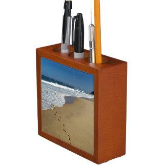 Footprints On Beach, Mabibi, Thongaland Desk Organiser