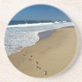 Footprints On Beach, Mabibi, Thongaland Drink Coaster