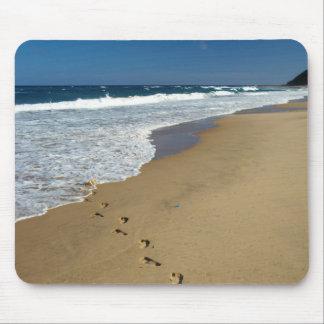 Footprints On Beach, Mabibi, Thongaland Mouse Pad