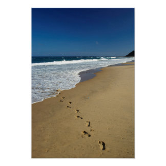 Footprints On Beach, Mabibi, Thongaland Poster