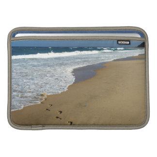 Footprints On Beach, Mabibi, Thongaland Sleeve For MacBook Air
