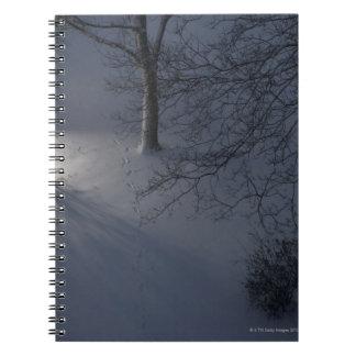 Footprints on Snow, Hamburg, Germany Notebooks