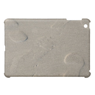 Footprints on the beach iPad mini cover