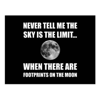 Footprints On The Moon Postcard