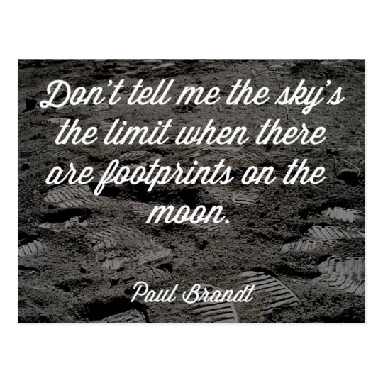 Footprints On The Moon Quote Postcard
