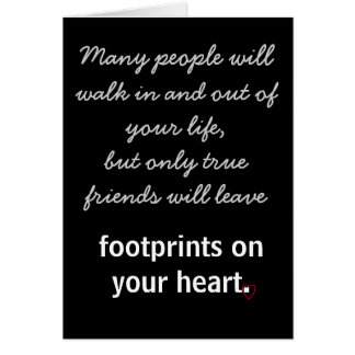 Footprints on your heart card