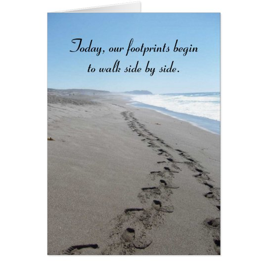 Footprints Pre-Wedding Card