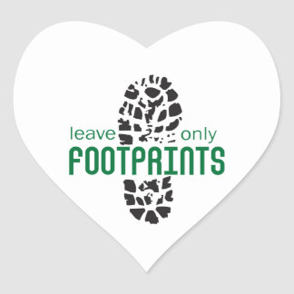 Footprints Heart Stickers