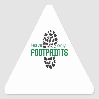 Footprints Triangle Stickers