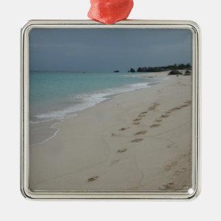 Footsteps in Bermuda Sand Christmas Ornament
