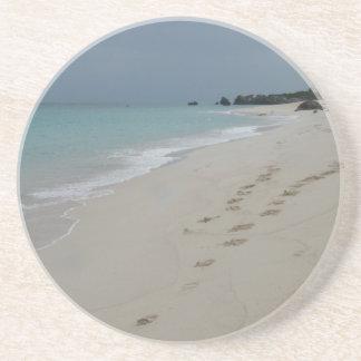 Footsteps in Bermuda Sand Coaster