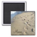 Footsteps on a sandy beach (Maine)