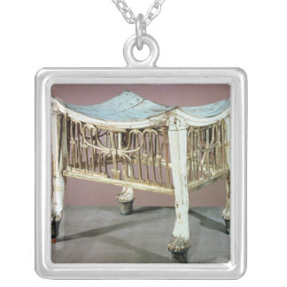 Footstool used by the child-king at the beginning silver plated necklace