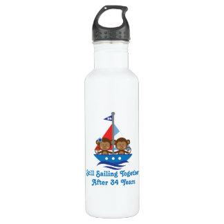 For 34th Wedding Anniversary Monkeys 710 Ml Water Bottle