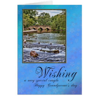 For a couple on Grandparents day Greeting Card