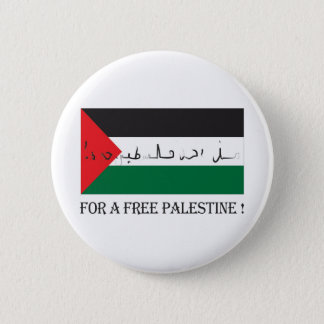 For a free palestine! 6 cm round badge