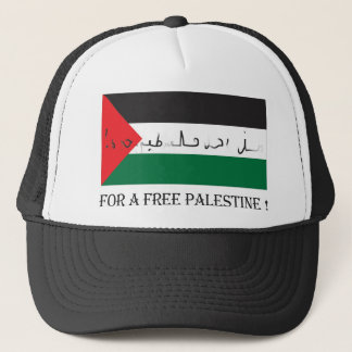 For a free palestine! trucker hat