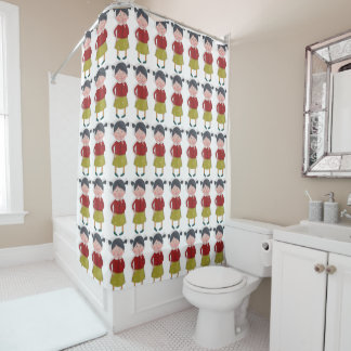 For A Girl Funny Shower Curtain