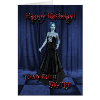 For a Goth sister,A Vampire Birthday card