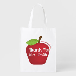 For a great teacher, Teacher appreciation apple Market Totes