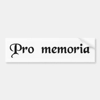 For a memorial bumper sticker