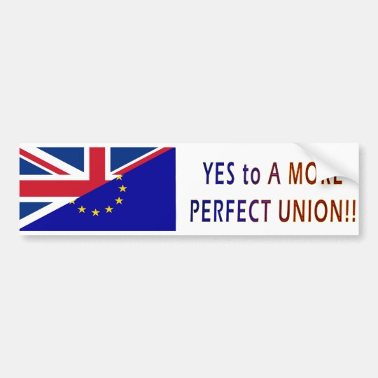For A More Perfect Union Bumper Sticker